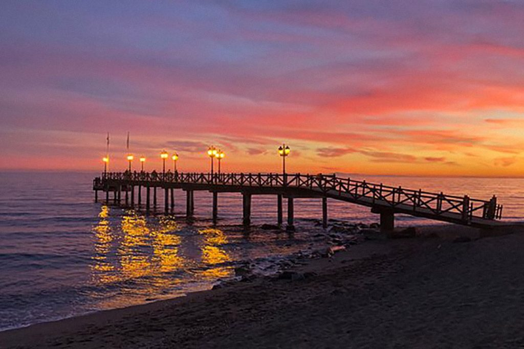 Best place for sunset Puente Romano Marbella