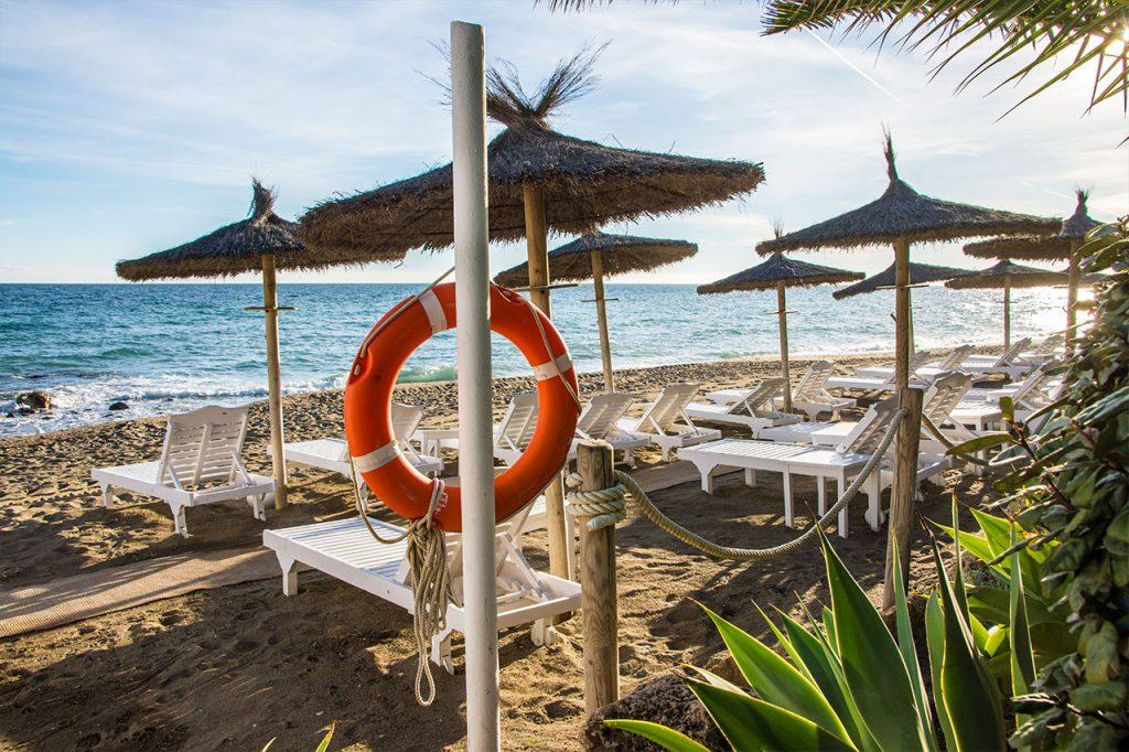 Best place to swim Puente Romano Marbella